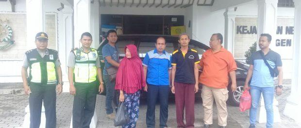 2 Sejoli Pencuri Di Pasar Nglangon Sragen Dikirim Ke Kejaksaan