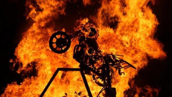 teror pembakaran motor