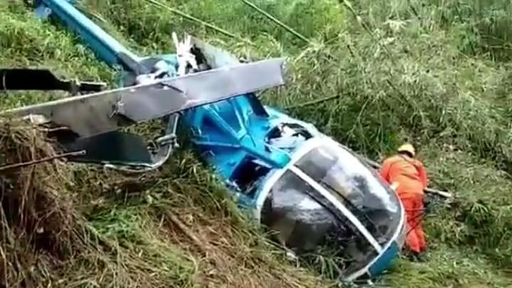 helikopter jatuh