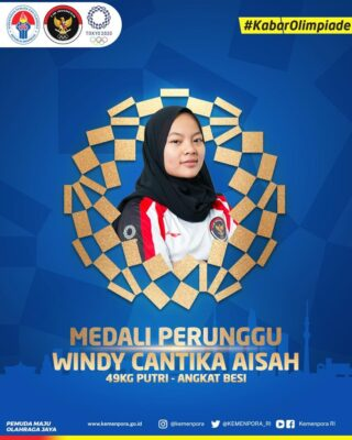 Sosok Windy Cantika Aisah, Mojang Bandung yang Sukses Sumbang Medali Pertama Indonesia di Olimpiade Tokyo 2020