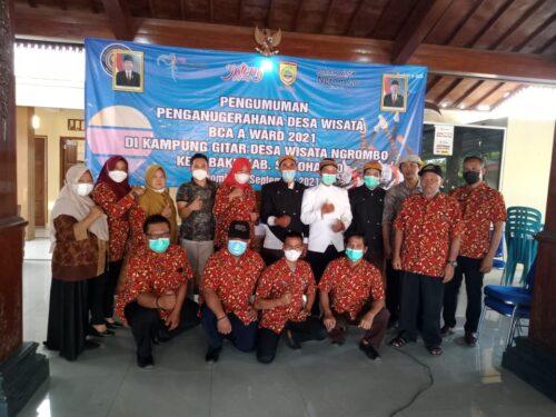 Desa Ngrombo Kecamatan Baki Sukoharjo Terpilih Menjadi Juara 1 Desa Wisata Tingkat Nasional BCA Award Kerja Bareng Kemenparekraf